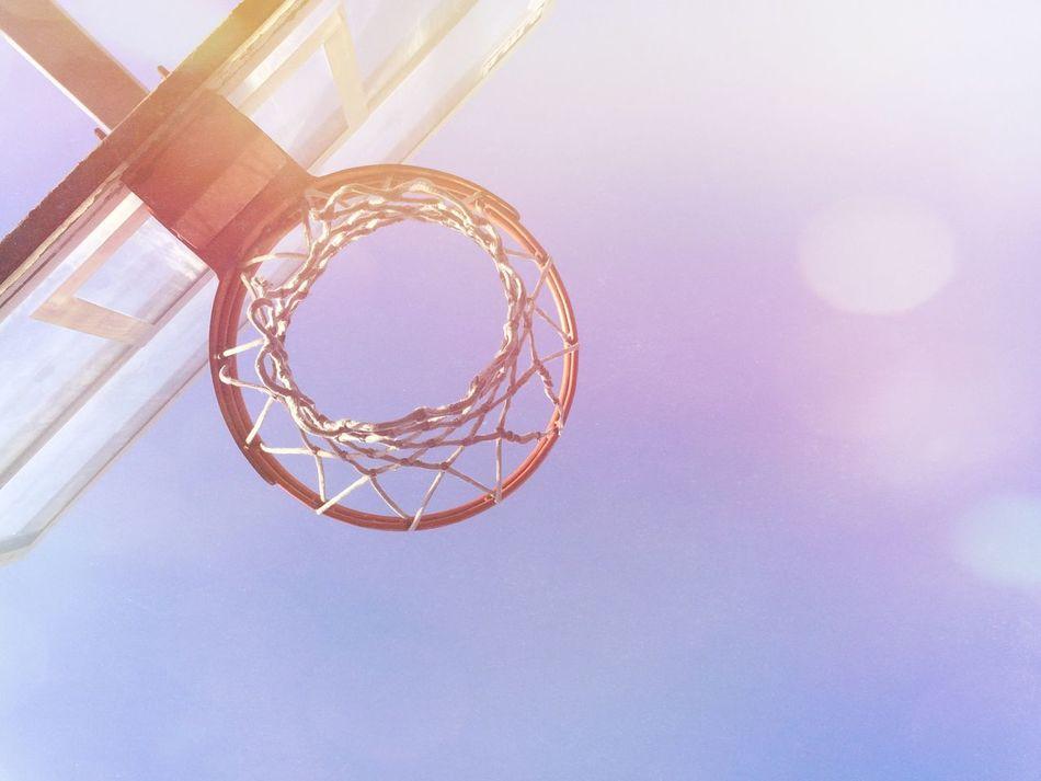 Beautiful stock photos of basketball, Absence, Basketball - Sport, Basketball Hoop, Blue
