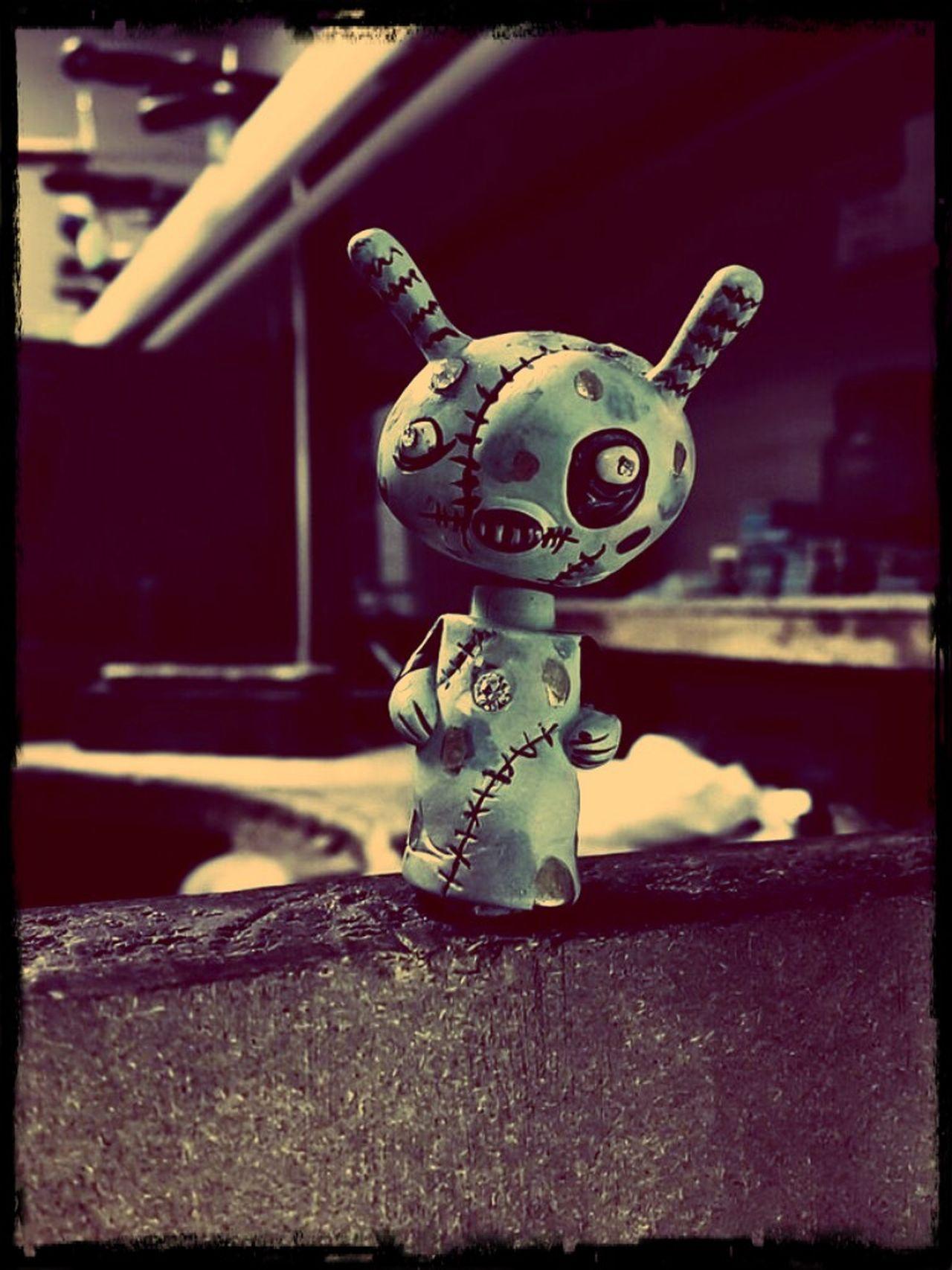 Workshop Zombie Boy Zombie Bunny Toy Bobble Head