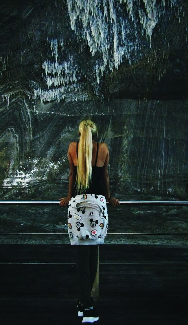 Hello World That's Me Itsme Behind Blondehairdontcare Longhair Mickeymouse Hungariangirl Above Salt Saltmine  Saltcave Taking Photos Eyeemcollection Beautifulplace Eyeemphotography Romania Turda Salina Caves Photography EyeEmbestshots Mystical Todayphotography Amazing Place Women Who Inspire You