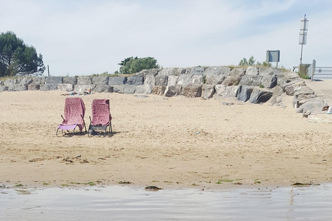 Sand Swimming Beach Beauty In Nature Sky British Beaches Deck Chair Deckchairs