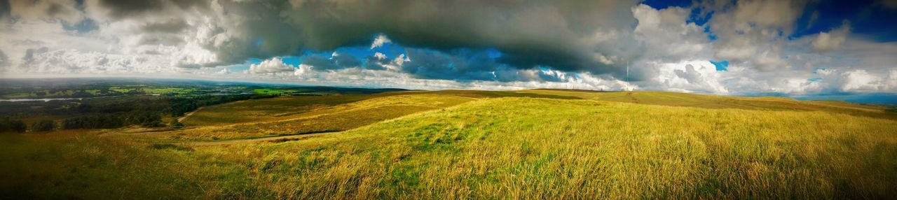 England 🌹 Northern England Rivington Pike Rivington Nature Panoramic Lancashire UK Field Grass Grassy Hills