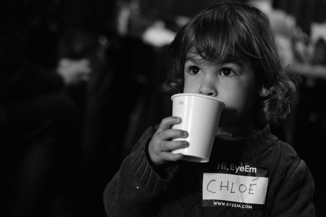 Portrait of little Chloé taken during Photo Hack Day 3 Portrait Blackandwhite Open Edit