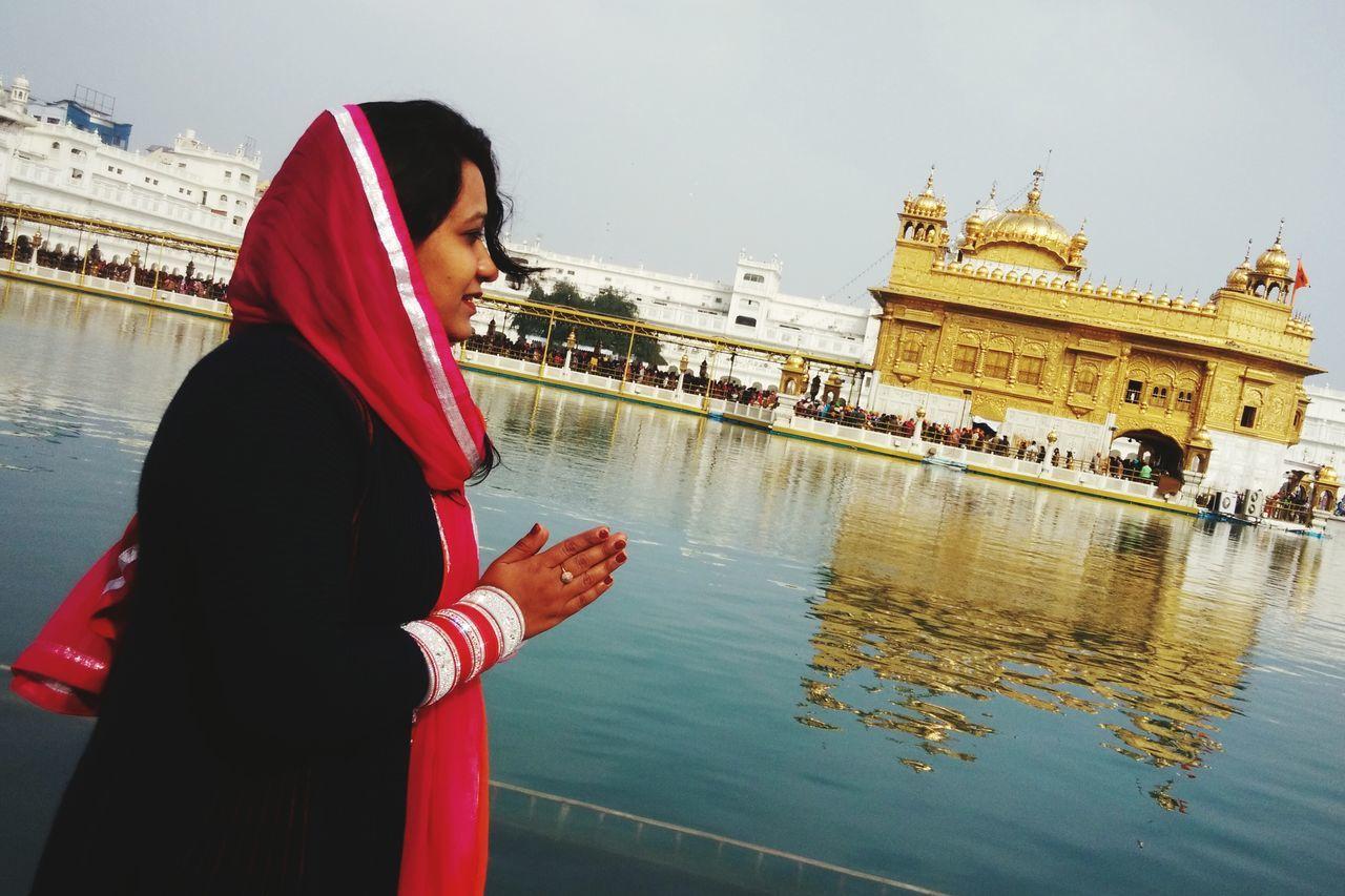 Everyday Joy Golden Temple Amritsar Malika Gitish GodBless Worship Uniqueness Uniqueness Amritsar, INDIA Religion Miles Away Spirituality Women Around The World
