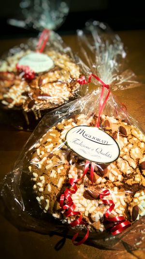 Cake Food Bakery Sweet Food Dessert Close-up No People Text Label Time Archival Indoors  Panettone Italian Food Italian Panettone Xmas Cristmas Warm Happyness