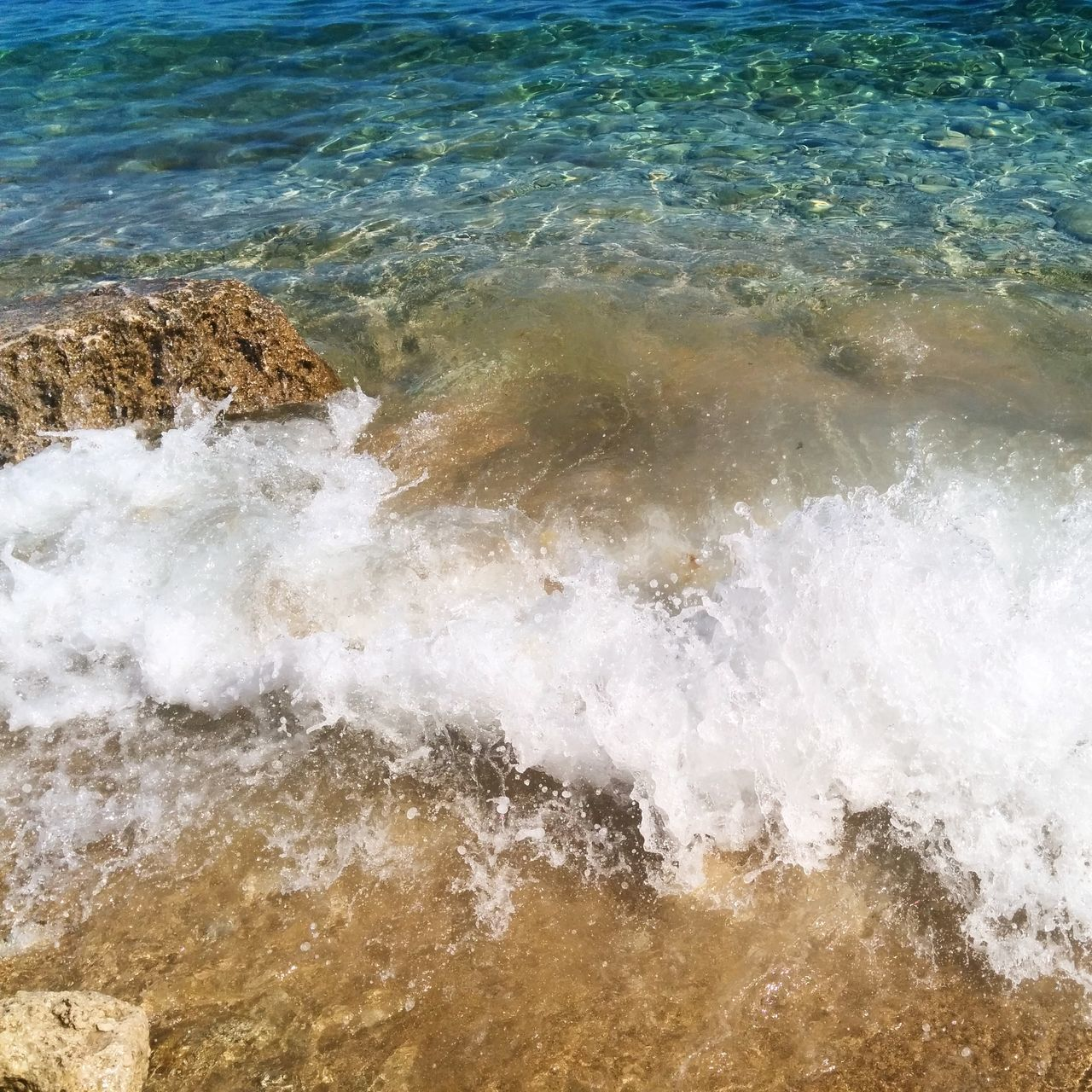 water, nature, no people, sea, wave, motion, high angle view, beauty in nature, rock - object, outdoors, day, waterfront, power in nature