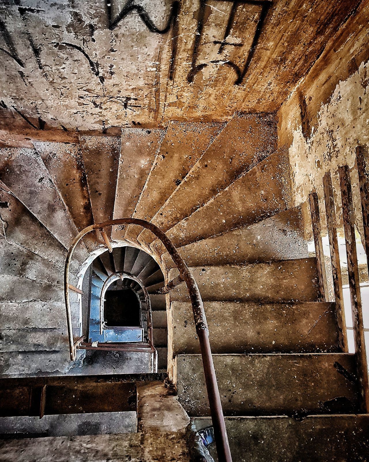 The Architect - 2017 EyeEm Awards Steps Staircase Built Structure Steps And Staircases Architecture Arch Day Indoors  No People Escalators And Staircases High Angle View São Paulo Patterns & Textures Documentary Photography Architecture Building Structures Damaged Old Buildings Urbex Rusty