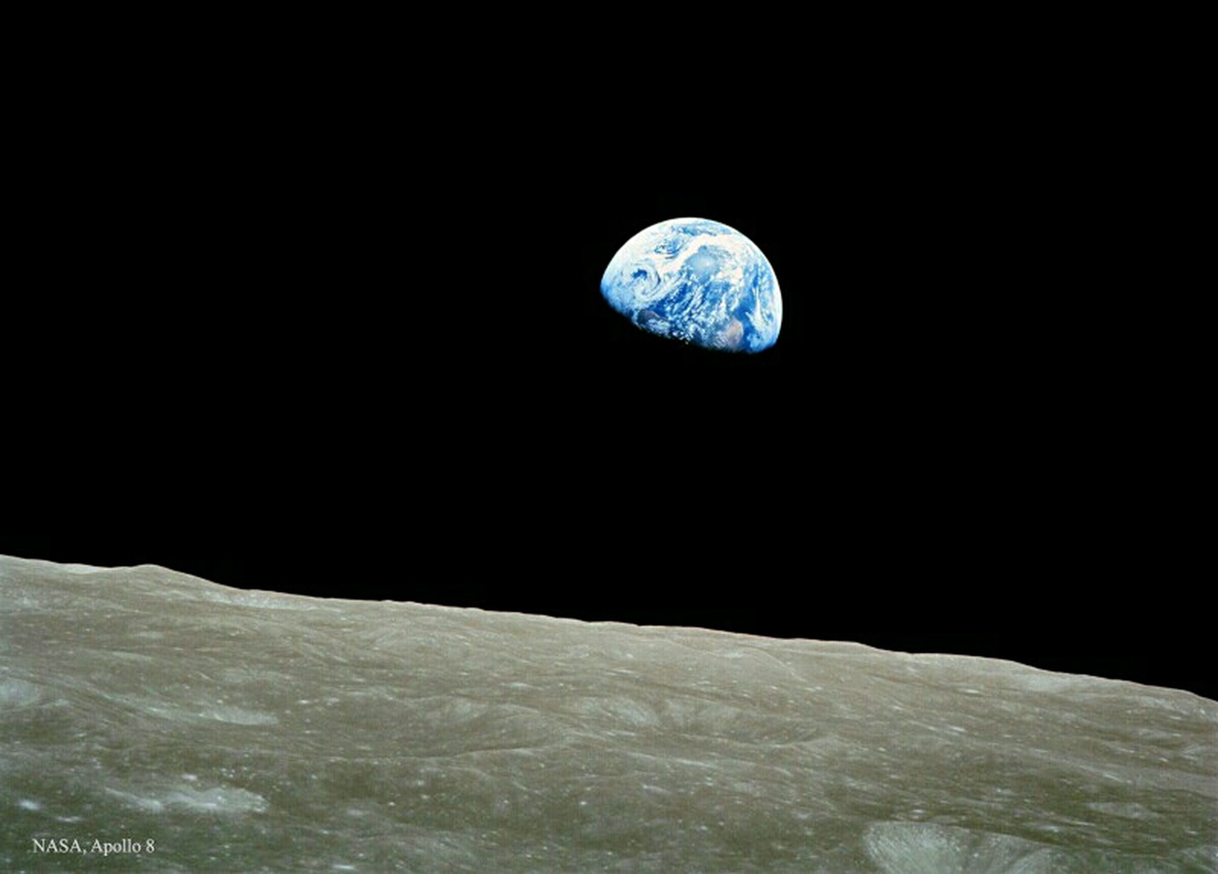 Most of us, if not all, love to capture Sunrise. This time let's all witness Earth rise as seen from its nearest sattelite - the Moon. NASA Image