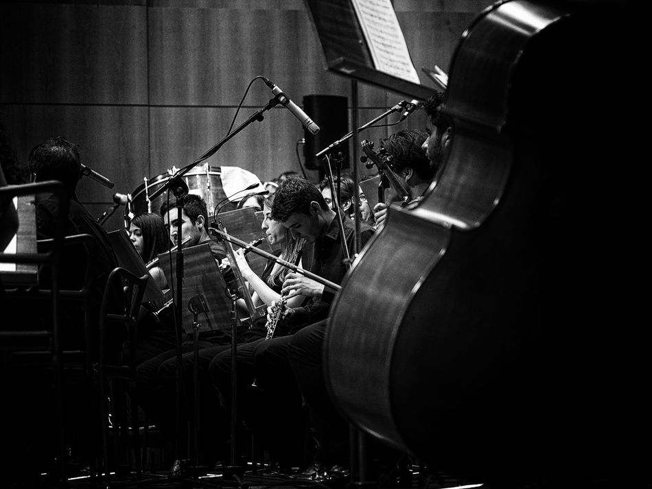 Auditorio B&w Black&white Blackandwhite Blackandwhite Photography Classical Concert Classical Music Concert Hall  Concert Photography Creativity Double Bass Enjoying Life Live Music Music Music Is My Life Music Sheets OBOE Transverse Flute Enjoying Music Concerts & Events Musical Instruments