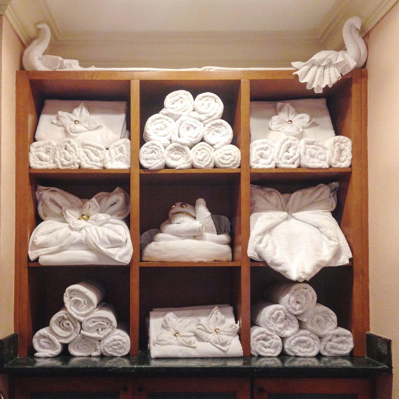 Beautifully Organized Towels Towel Animal Nassau, Bahamas Vacation
