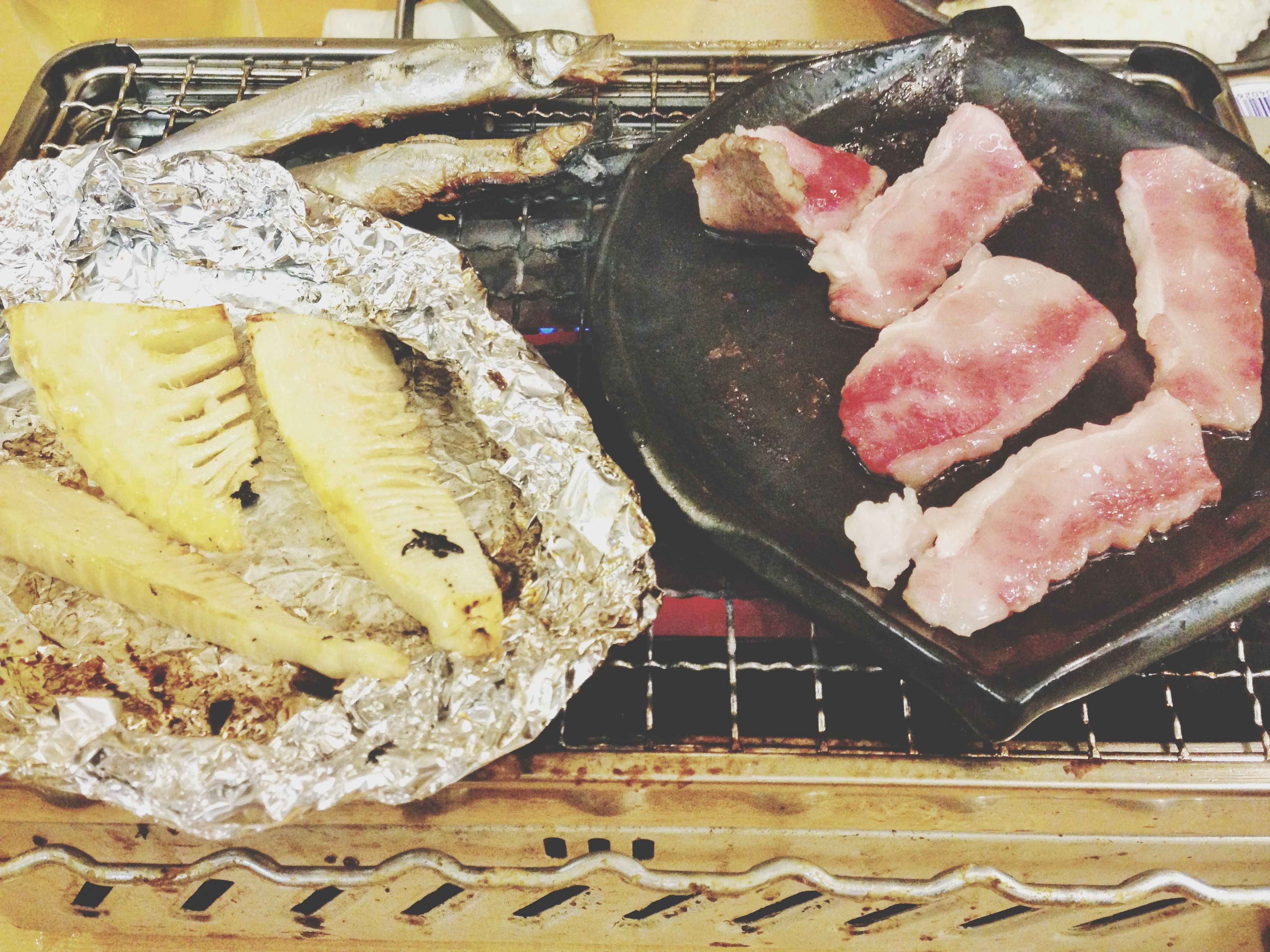 food and drink, food, freshness, indoors, still life, unhealthy eating, ready-to-eat, sweet food, indulgence, baked, dessert, meat, close-up, temptation, high angle view, barbecue grill, no people, preparation, homemade