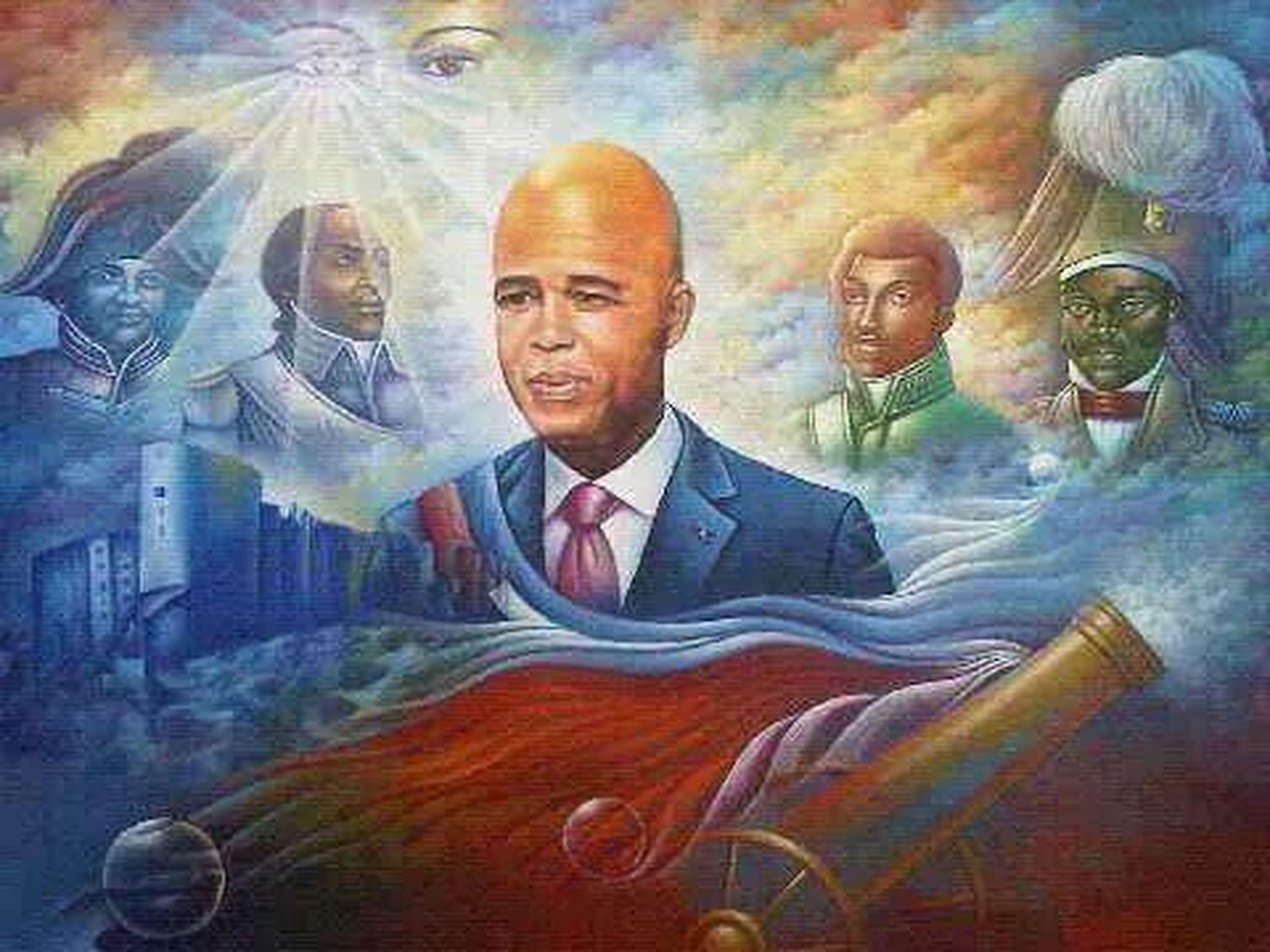 Haitian President Street Art Haitian History President Martelly