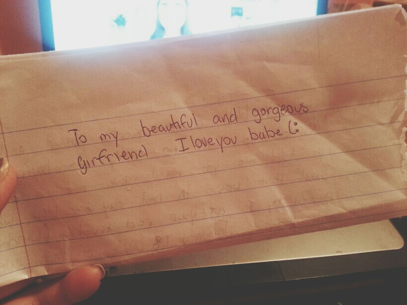 reading your love letters to me... i miss you marc. and its killing me. </3 Loveletters