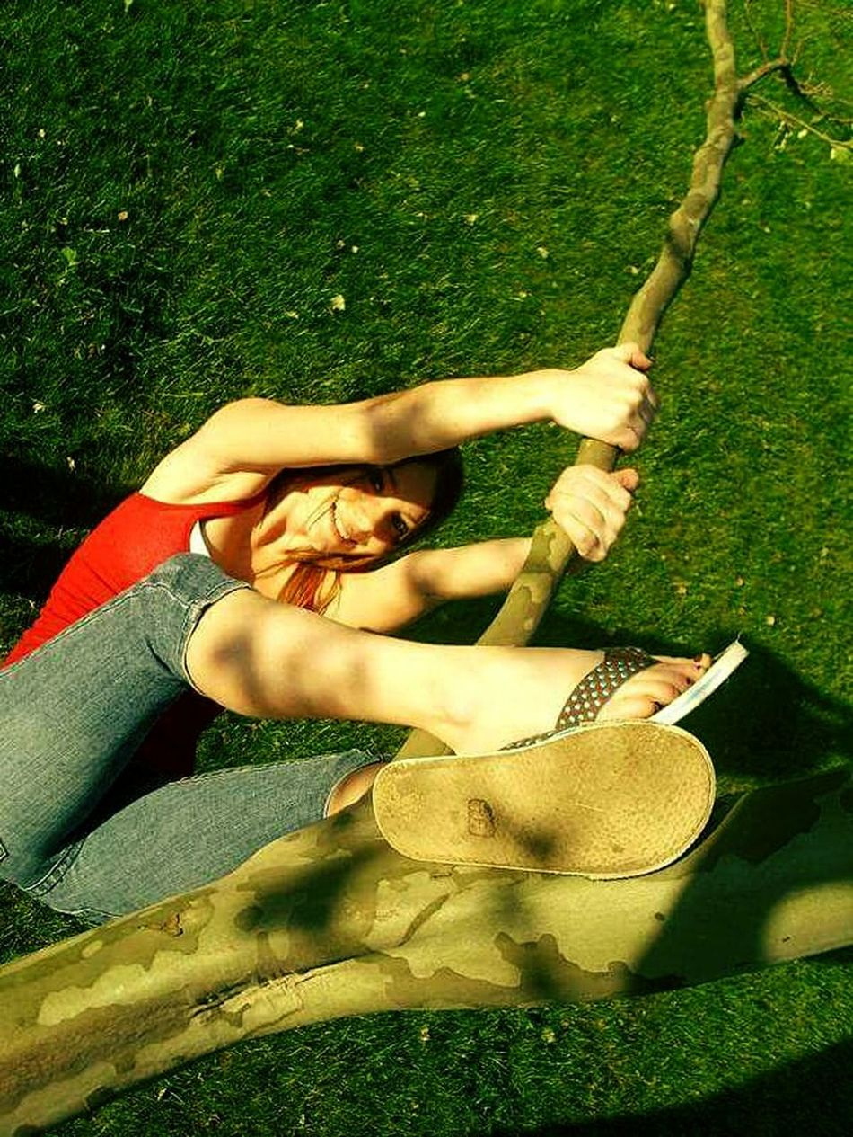 Hanging Tree Hangingfromtrees Leisure Activity Women Real People Grass Outdoors Day Above View
