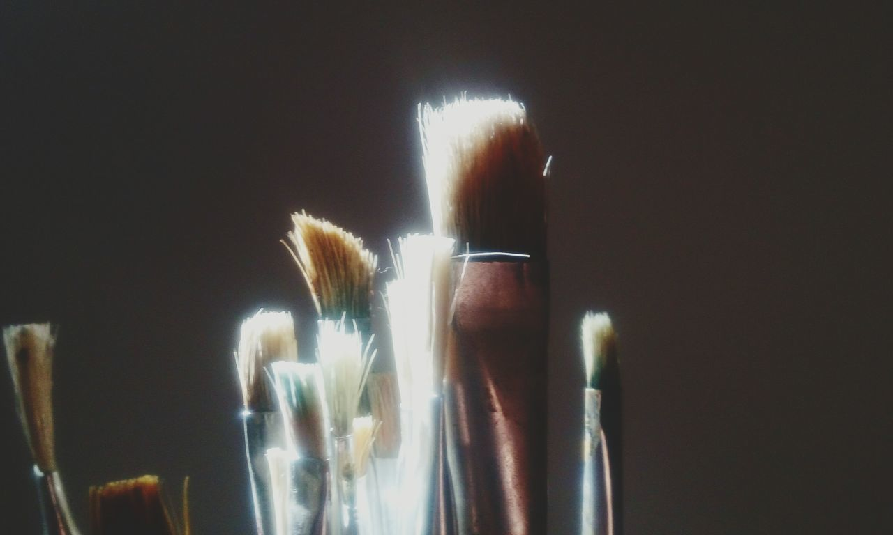 Paintbrush Arts Culture And Entertainment Paint Artist People Beauty Close-up Black Background Art Sunbeam Shadow Night Indoors