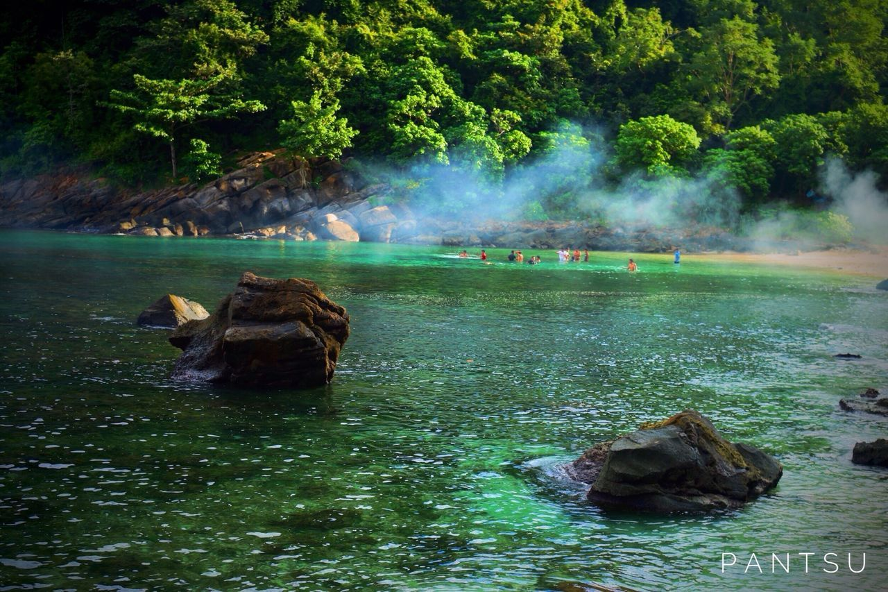 Water Smoke - Physical Structure Nature Outdoors Beauty In Nature Swimming Hot Spring Day People Landscape_Collection Landscape #Nature #photography Landscape Aceh Lhokmataie Lost In The Landscape EyeEm Nature Lover EyeEm Best Shots EyeEmNewHere EyeEmBestPics Lost In The Landscape