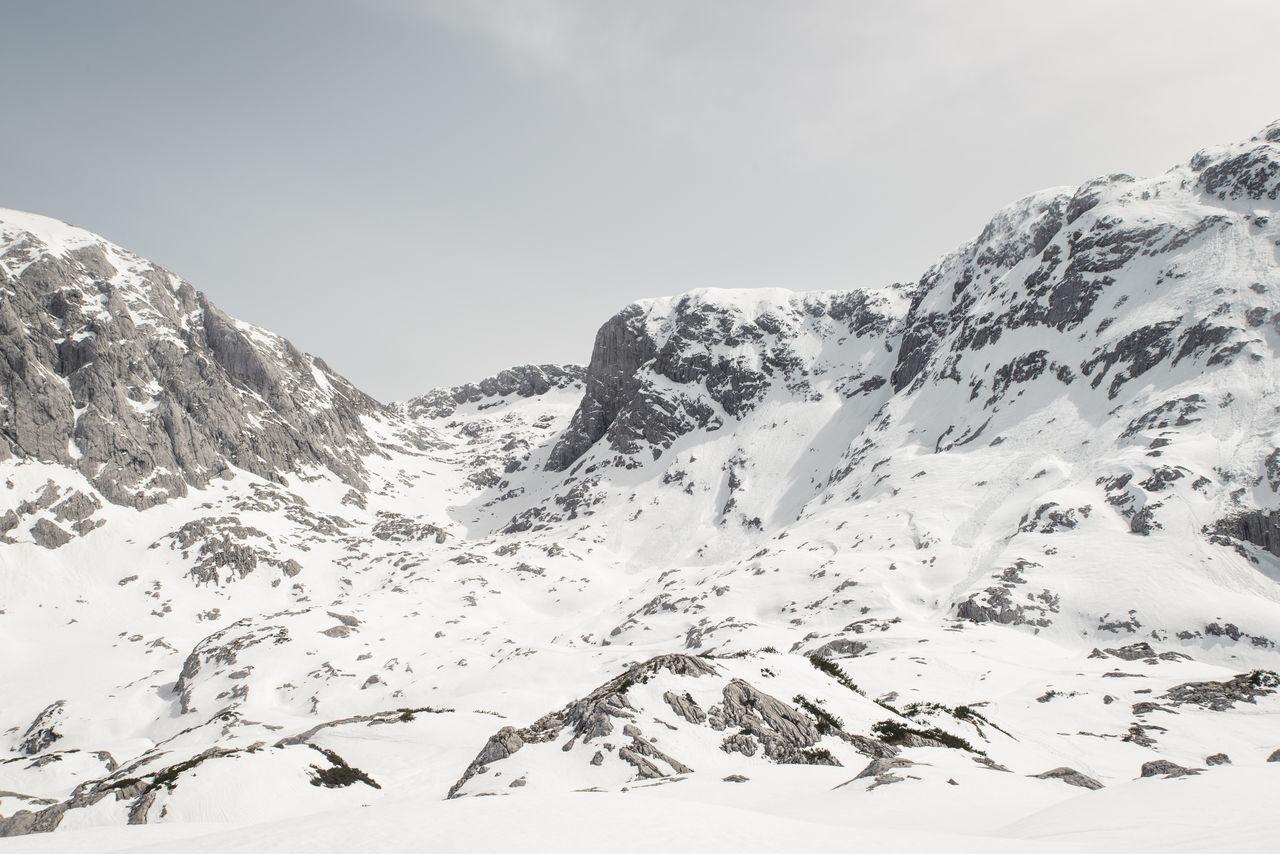 Berchtesgaden Bgl Hiking Hoher Göll Landscape Mountains Rocks Ski Touring Snow Snowshoeing The Alps Touring Winter