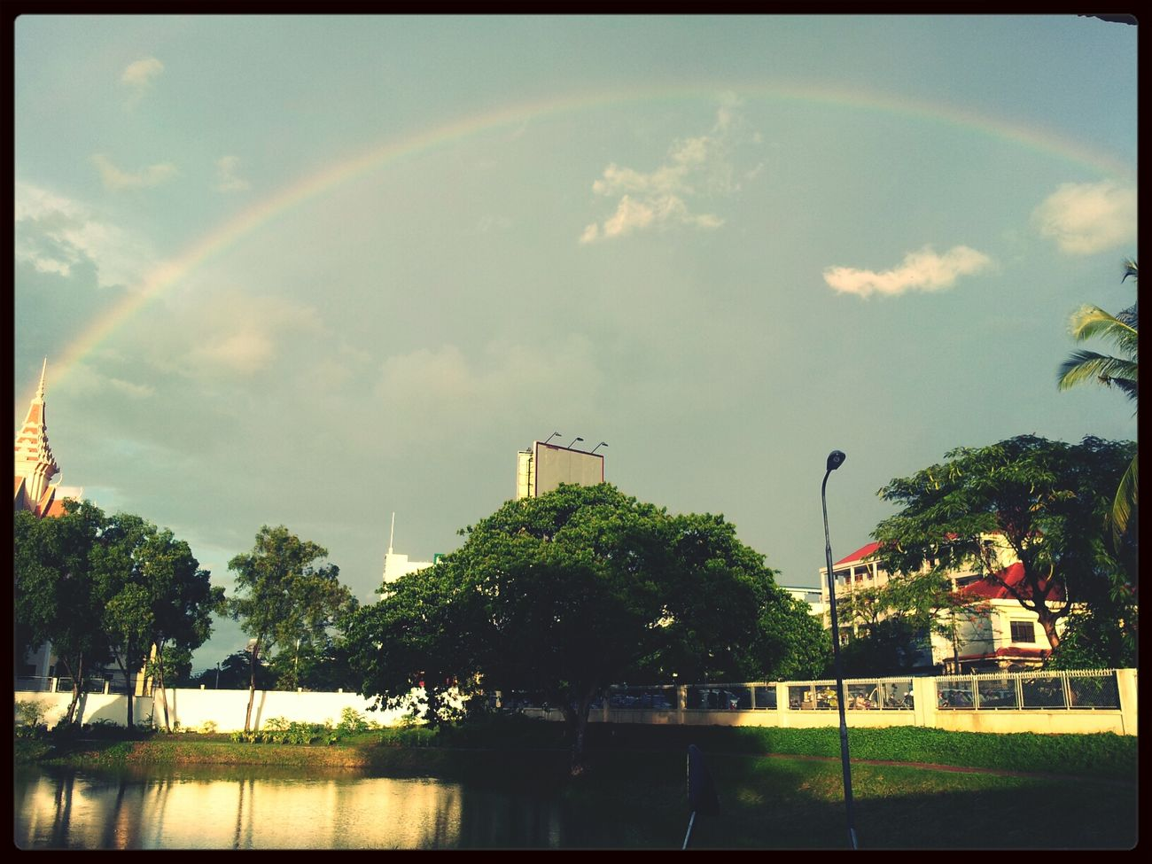 enjoy to see rainbow after rain beside complain bout it. Studying Weather