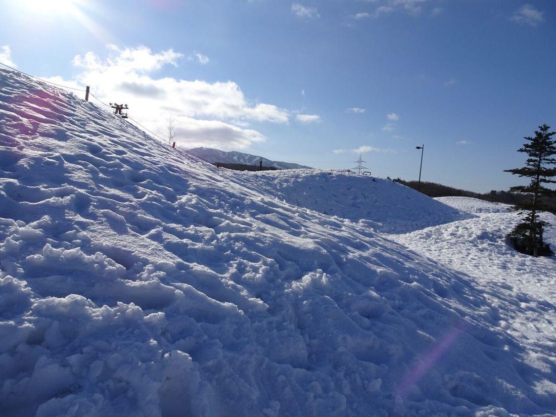 雪( ̄へ ̄) Winter Cold Temperature Snow Sky Nature Weather Cloud - Sky Beauty In Nature Day Scenics Landscape Tranquility Low Angle View No People Mountain
