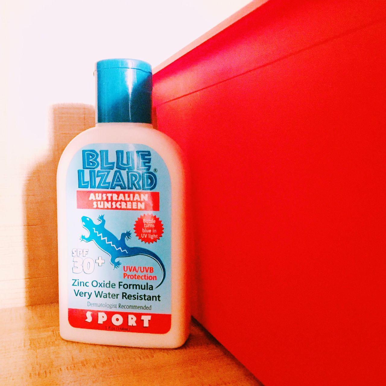 Blue Lizard Sun Cream Commodity Red Gecko Australia Cute Blue
