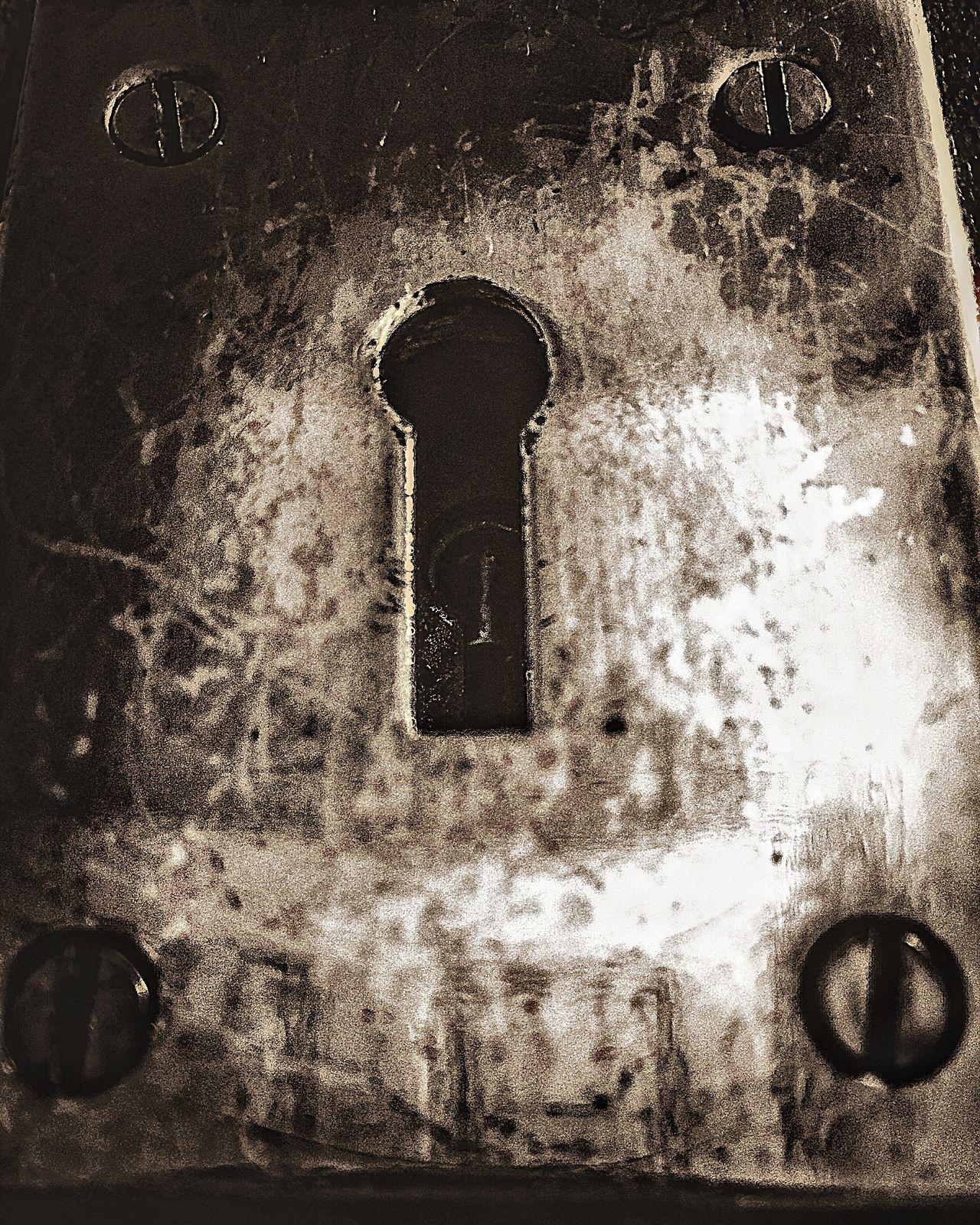 Keyhole The Week Of Eyeem Dark Artistic Creative Photography Weathered Showcase July Fine Art Urban Exploration Metallic Screws