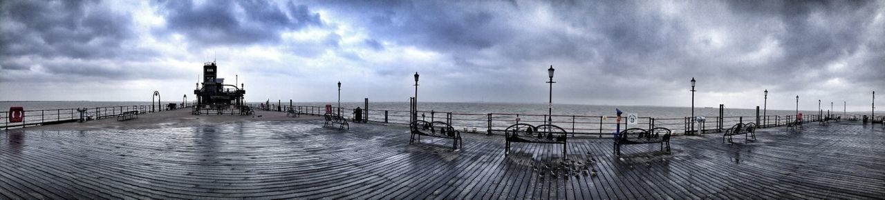 Clouds And Sky Pier Panoramic Photography Fltrlive The Traveler - 2015 EyeEm Award
