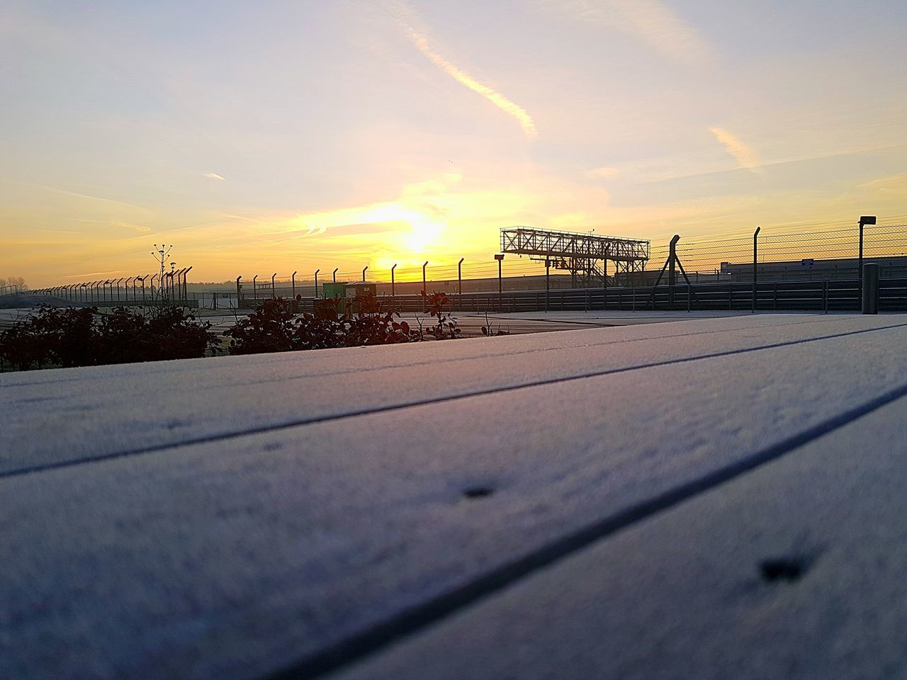 Early frozen morning at Silverstone Race track Sunset Sky Dramatic Sky Cold Temperature Silverstone Race Racetrack First Eyeem Photo