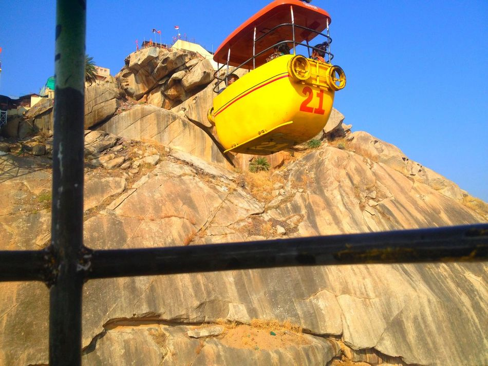 On cable car shoot Cable Car Clear Sky Day Ideal India IPhone Photography Low Angle View Outdoors
