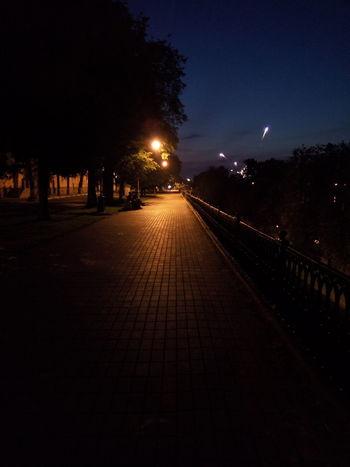 Yaroslavl promenade Night Illuminated Sky Tree The Way Forward City Outdoors No People