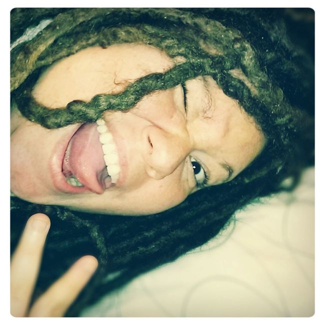 Enjoying Life Cheese! Dreads Silly Face!