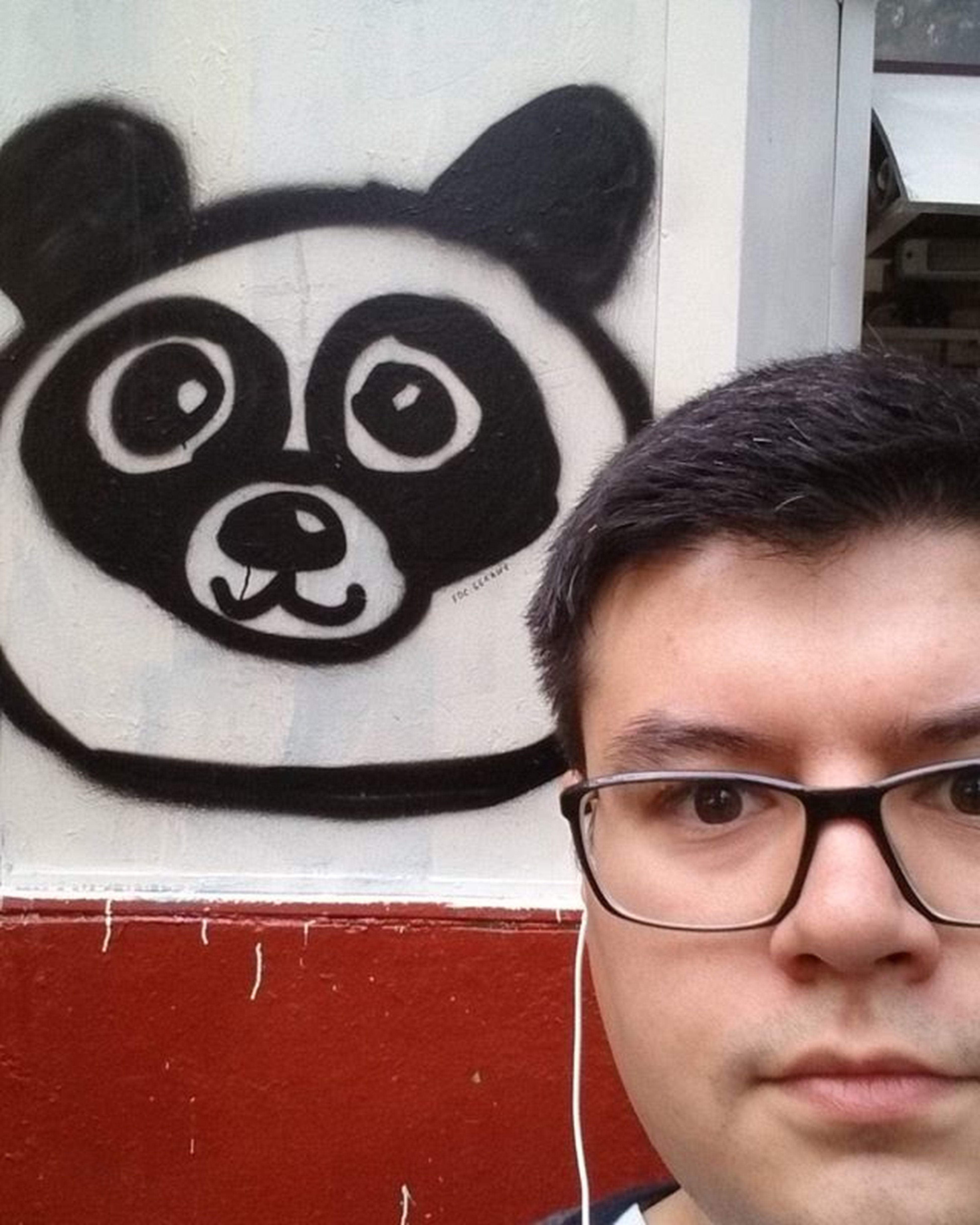 хуелфи Huelfie Panda Graffiti Tag Граффити панда Тэг беляш