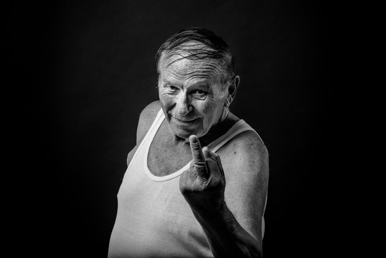 Adult Adults Only Black And White Black Background Black Background Blackandwhite Close-up Human Body Part Human Hand Looking At Camera Looking At Camera Men One Man Only One Person One Senior Man Only Only Men People Portrait Portrait Photography Senior Adult Senior Men Studio Photography Studio Shot BYOPaper! The Portraitist - 2017 EyeEm Awards