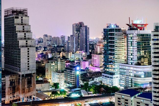 Bangkok 3 Bangkok Thailand Cityscapes Urban Landscape Skyscraper Night Lights Cities At Night