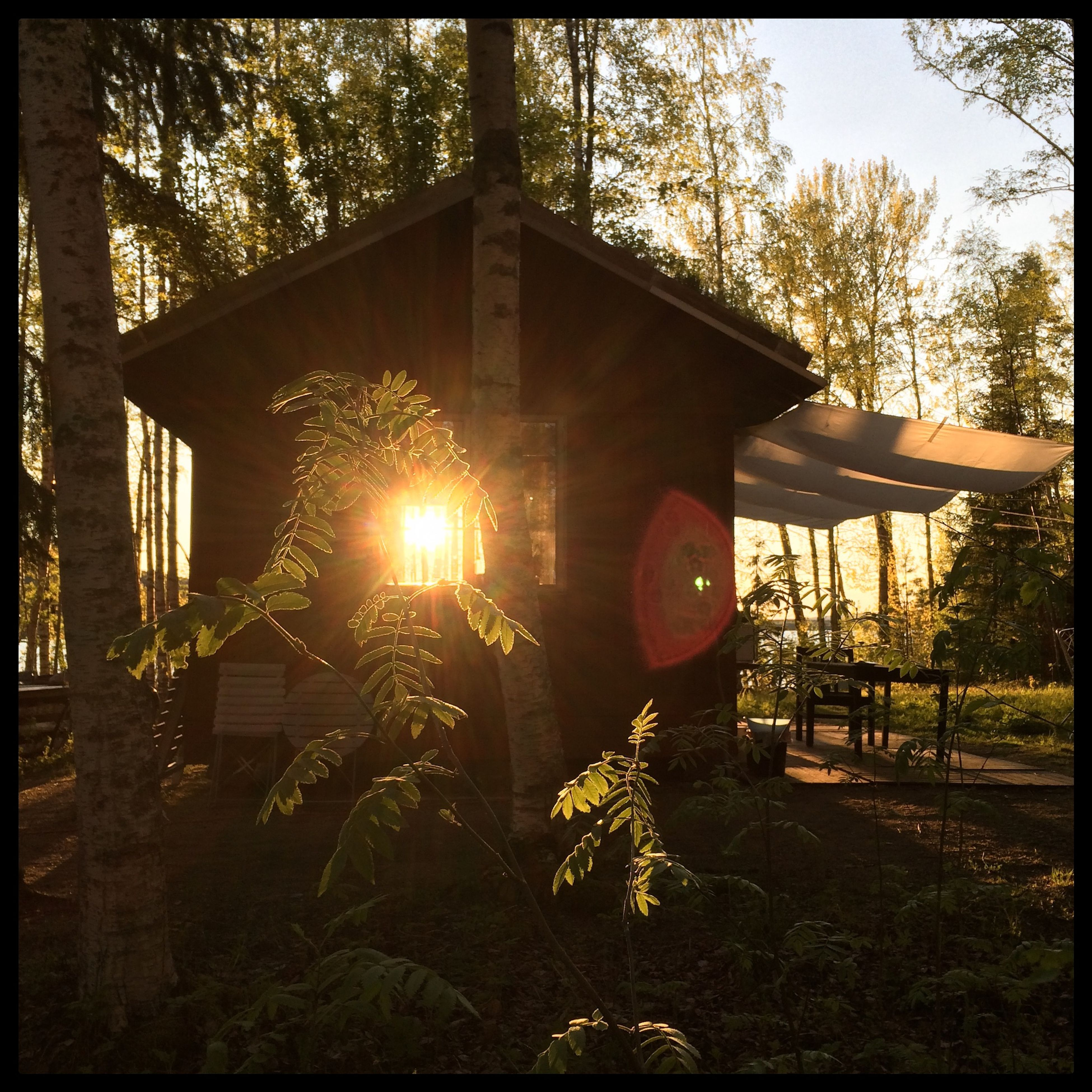The cabin late last night. Today it's raining ... The Cabin Sunset Betarsjön Ångermanland Sweden Visitsweden Swedishmoments