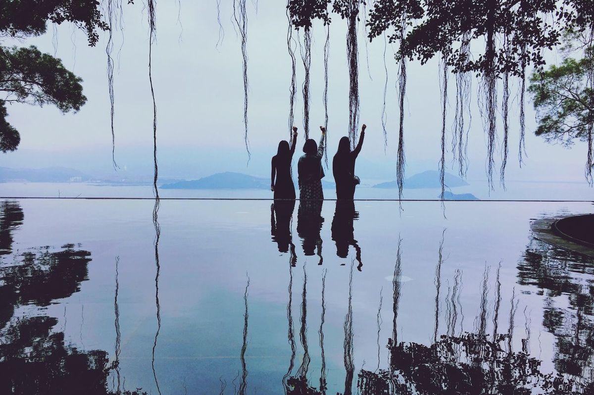 Cuhk Reflection Lake Nature Sky Outdoors Friendship