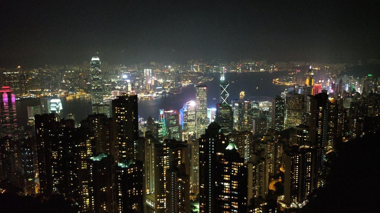 Cityscape Skyscraper Urban Skyline Night City Illuminated No People Outdoors Architecture Sky Enjoying Life Hi! Relaxing Hello World That's Me Taking Photos Hongkongtrip Hongkongstreet Hongkongphotography Hongkong Photos
