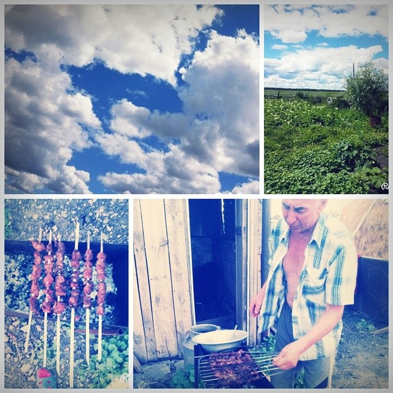 хорошодомавдеревне свежийвоздух зелень  шашлычкиии