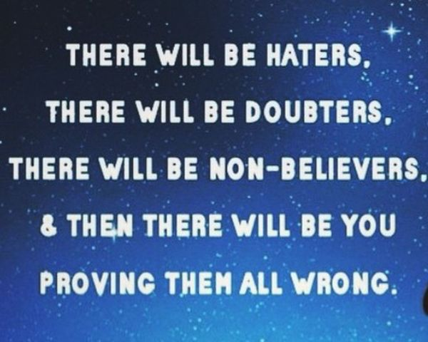 Haters Doubters Nonbelievers Prove You Believe Believe In Everything Believe In Magic Goodnight GN