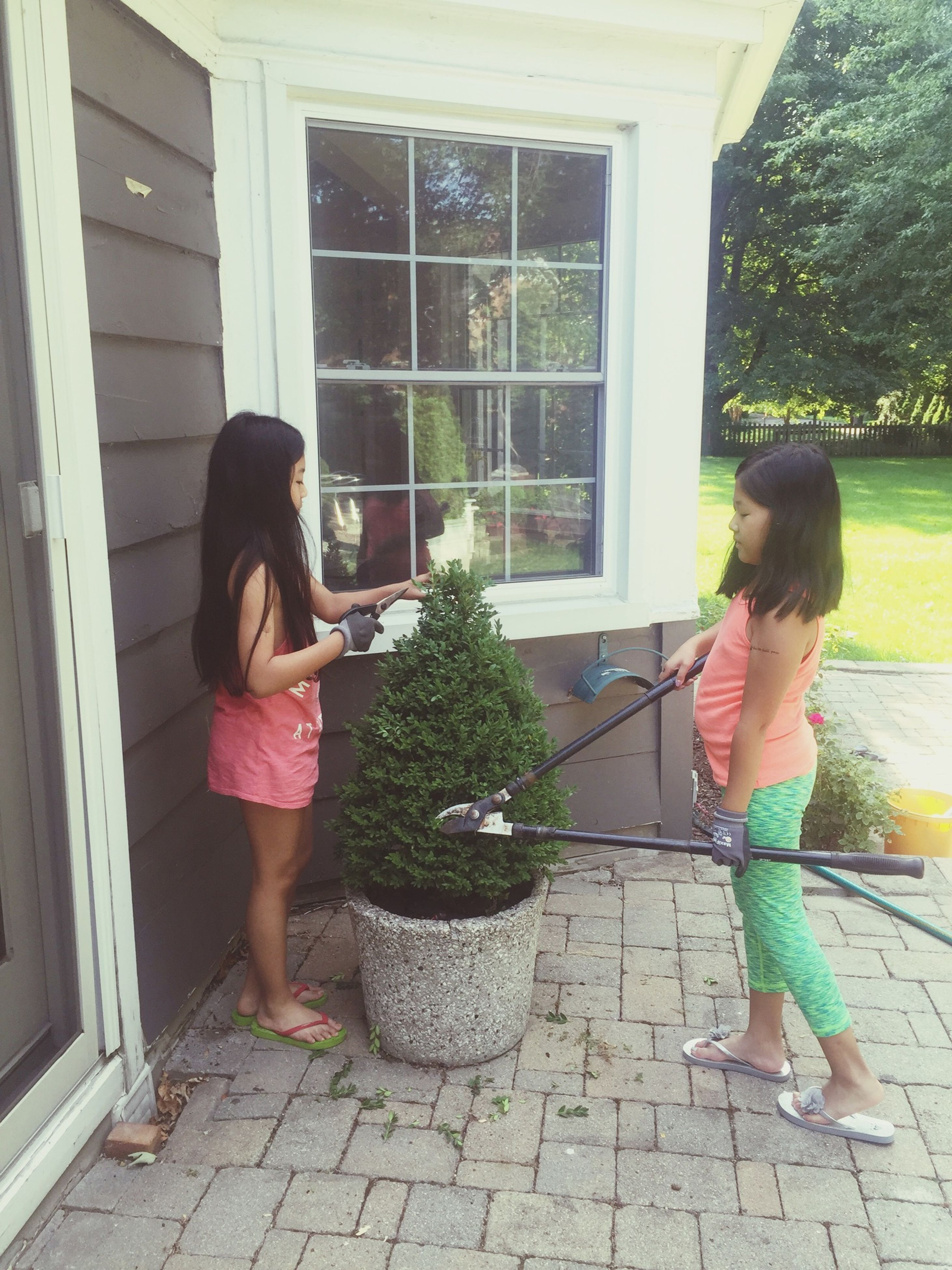 lifestyles, full length, casual clothing, leisure activity, tree, plant, day, outdoors, green color, growth