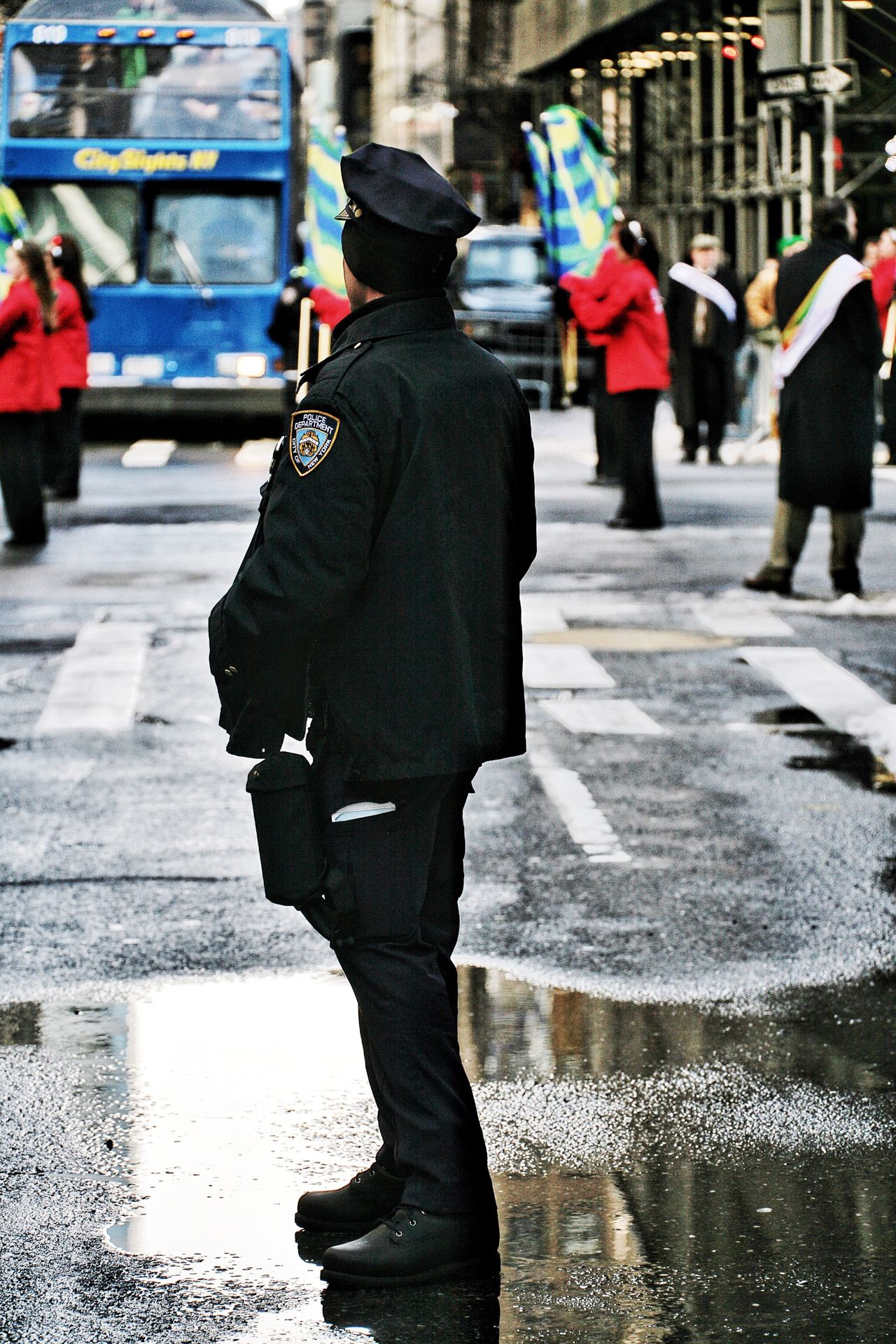 Police Policeman Law Enforcement NYPD NYC NYC Photography NYC Street Photography Reflection Reflections Reflection_collection St Patrick's Day Streetphotography Street Street Photography Manhattan Police Parade Parade Time Public Transportation Fresh On Eyeem  People In Places