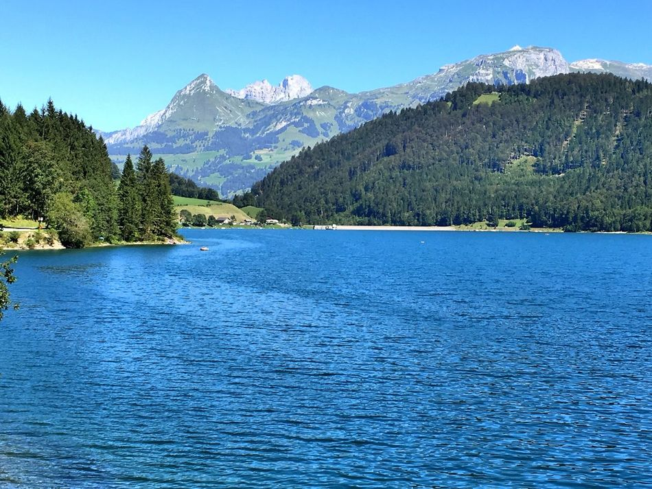 Mountain Tranquil Scene Scenics Water Blue Tranquility Waterfront Beauty In Nature Tree Lake Idyllic Clear Sky Nature Calm Mountain Range Holidays EyeEm Gallery