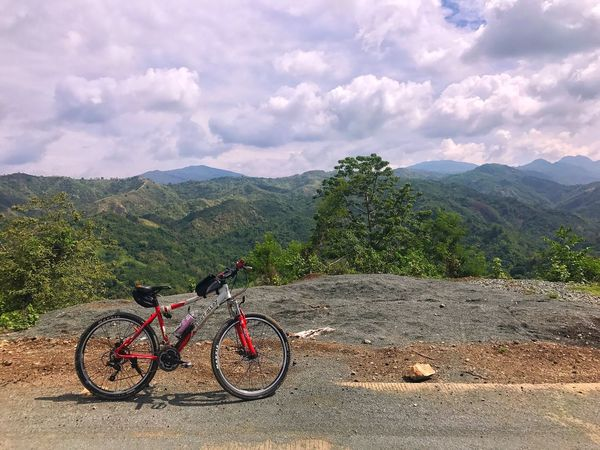 Mountain Bicycle Sky Mountain Range Transportation Scenics Nature Mode Of Transport Mountain Bike Cycling Adventure Non-urban Scene Cloud - Sky Tranquil Scene Beauty In Nature Landscape Land Vehicle Tranquility Outdoors Day Photography Jaysalvarez The Street Photographer - 2017 EyeEm Awards The Great Outdoors - 2017 EyeEm Awards