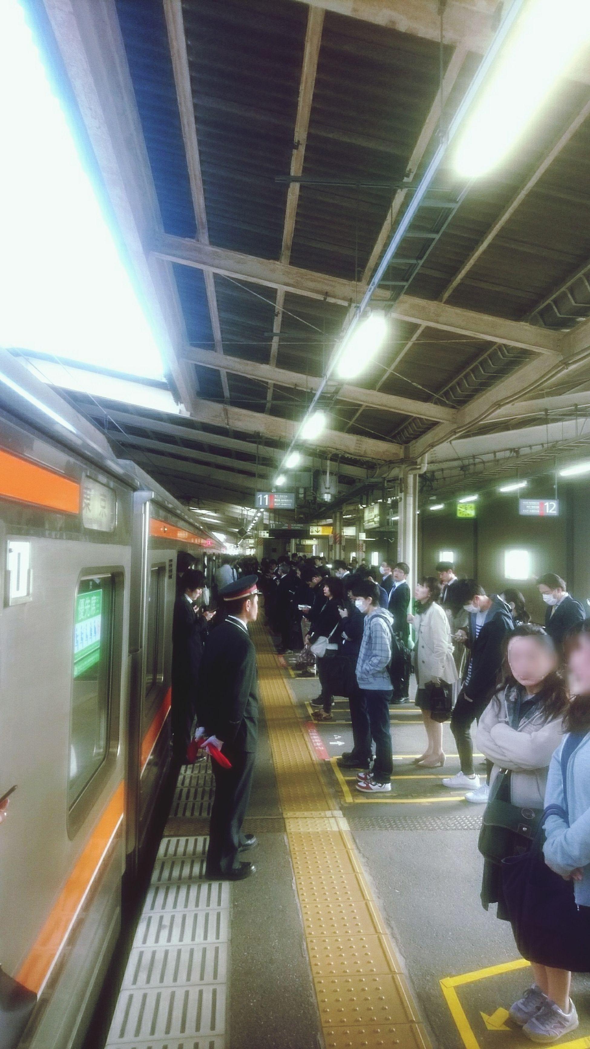 People Lifestyles City Musashino-Line Nishi-Funabashi Rush Hour City Life Tokyo,Japan