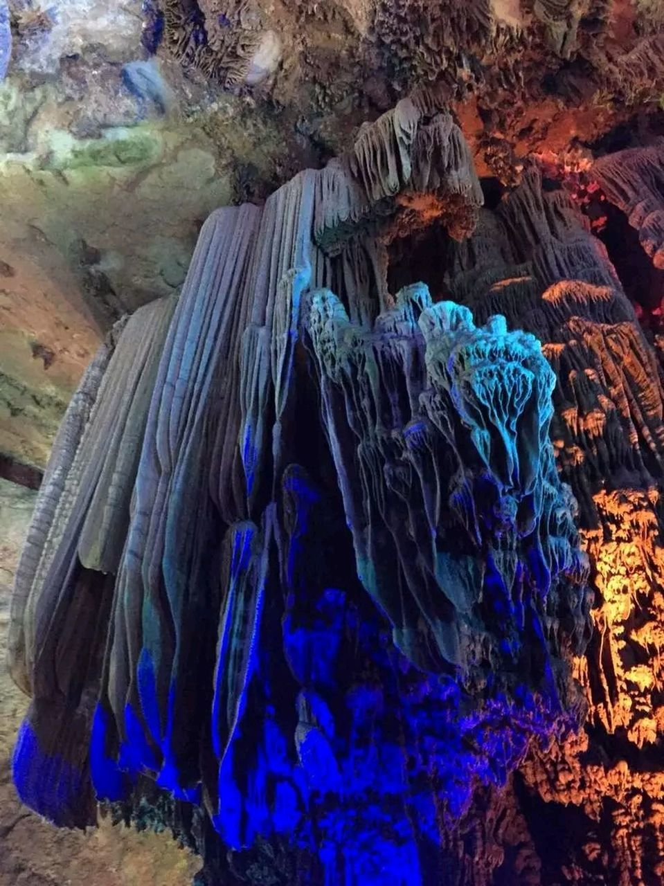 rock formation, rock - object, cave, no people, physical geography, blue, beauty in nature, nature, close-up, outdoors, day, undersea
