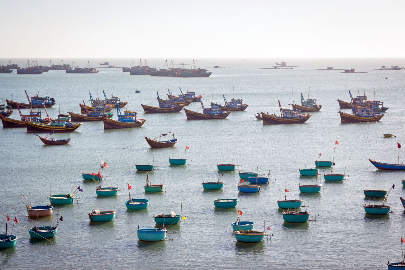 Fishing boats, 2016 Blue Sky Day Fishery  Fishing Boats Fishing Boats Vietnam Fishing Vessel Harbor Mui Ne Mui Ne Beach Nautical Vessel No People Outdoors Phan Thiet Sea Summer Sun Sunlight Traditional Tranquil Scene Tranquility Travel Destinations Vacations Vietnam Vietnam Trip Water