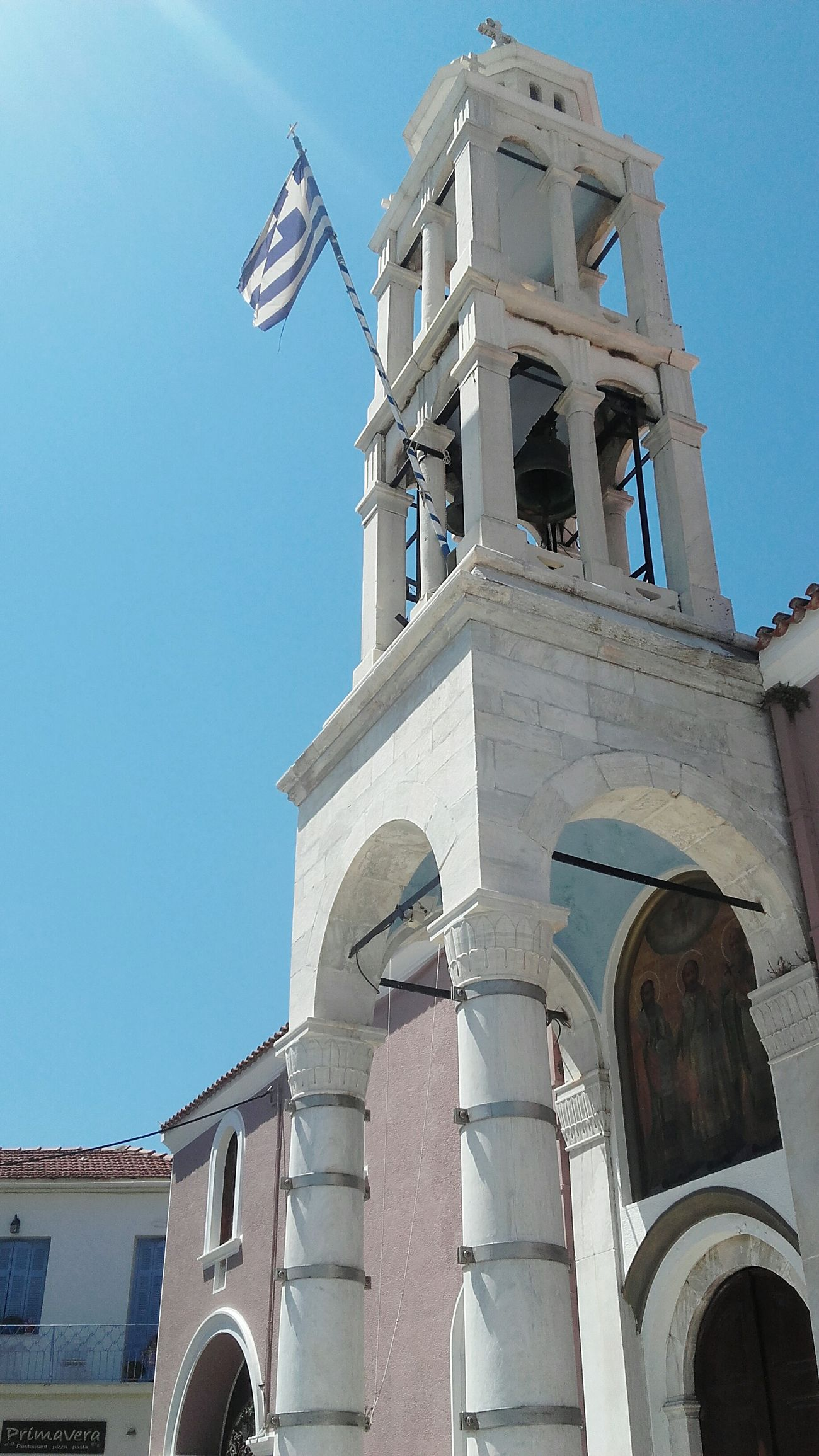Blue Sky Beautiful Blue And White Beautiful Greece Orthodox Orthodox Church Church Crkva Pravoslavlje Greece Greek Flag Skiathosisland Skiathos_island Likeforlike Like4like Fresh Enjoying Life Blue Sky Skiathos Fresh AF Relaxing