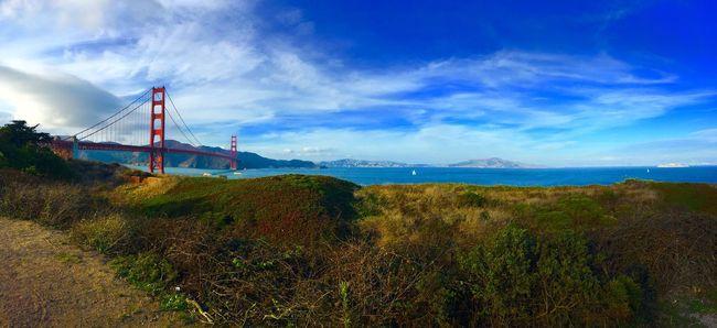 Golden Gate Bridge Suspension Bridge Sky Bridge - Man Made Structure San Francisco Golden Gate Bridge