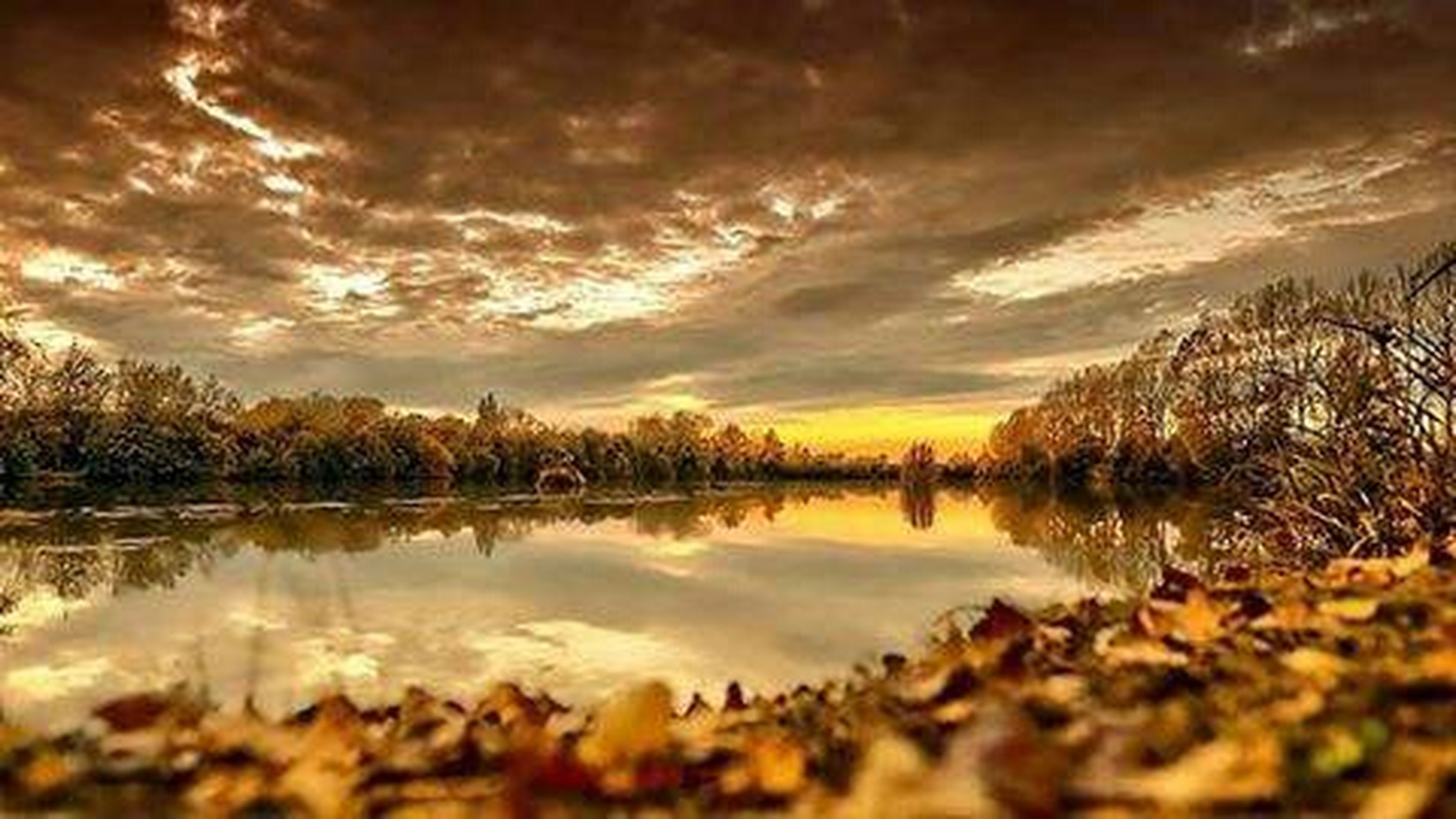 reflection, tranquil scene, tranquility, lake, sky, scenics, sunset, water, beauty in nature, cloud - sky, nature, tree, idyllic, cloud, standing water, non-urban scene, cloudy, calm, landscape, outdoors