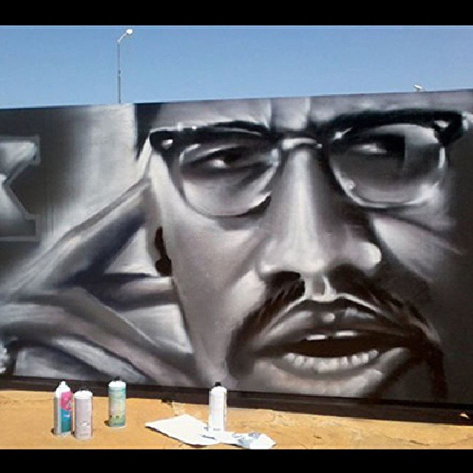 Vividly remember painting this piece 3 years ago. The style has now evolved Wisetwo Malcolmx Mural Graffiti swift9