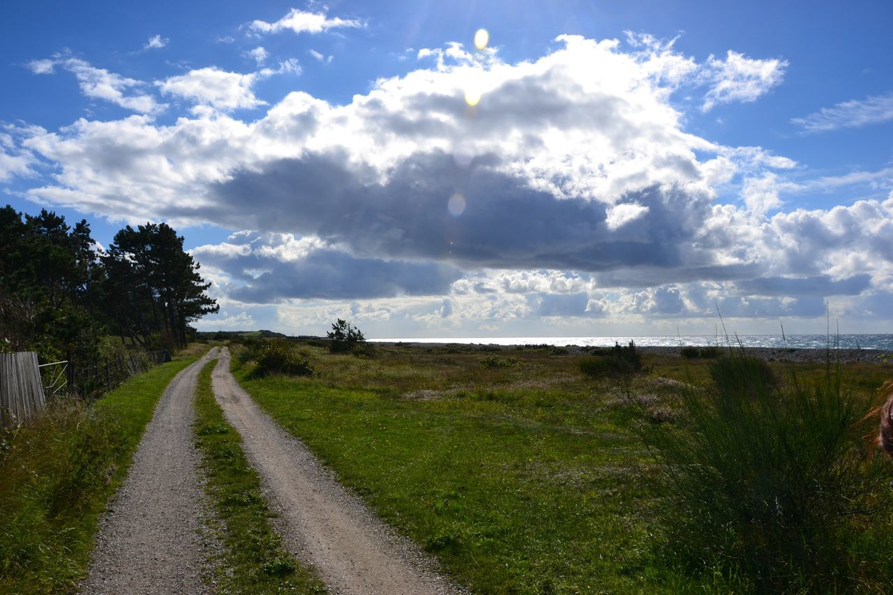 Cloud - Sky Grass Nature Outdoors Scenics Sky Landscape Beauty In Nature Day Water No People Travel Scandinavia Visitaeroe Denmark Nofilternoedit EyeEmNewHere