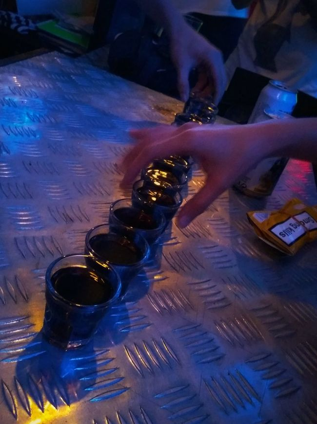 Shots Party Party Time High Angle View Person Creativity Multi Colored Alcoholic Drink Alcool  Jaegermeister